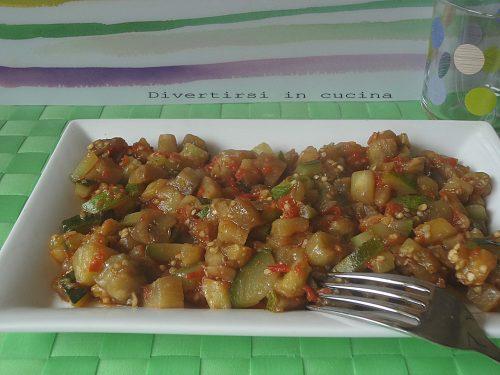 Contorno di zucchine e melanzane