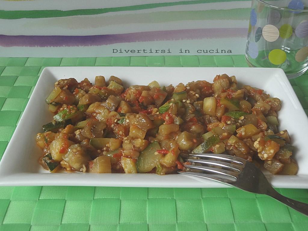 Ricetta contorno di zucchine e melanzane Divertirsi in cucina
