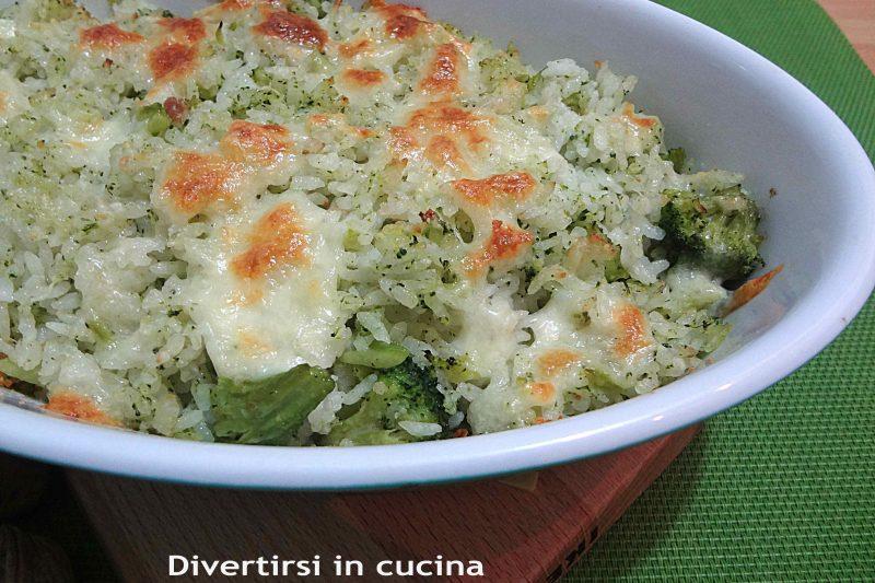 Riso al forno con i broccoli