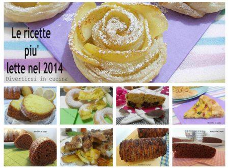 Le ricette più lette nel 2014