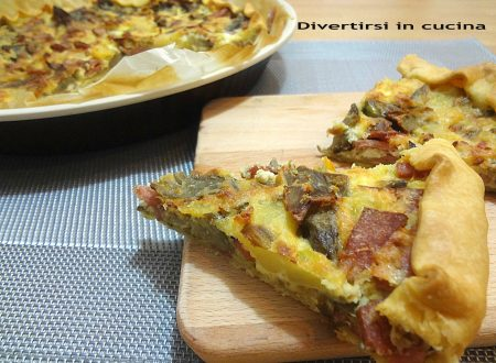 Torta salata con carciofi e patate