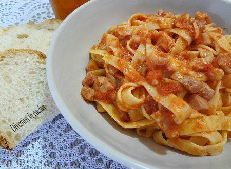 Pasta panna pancetta e pomodoro