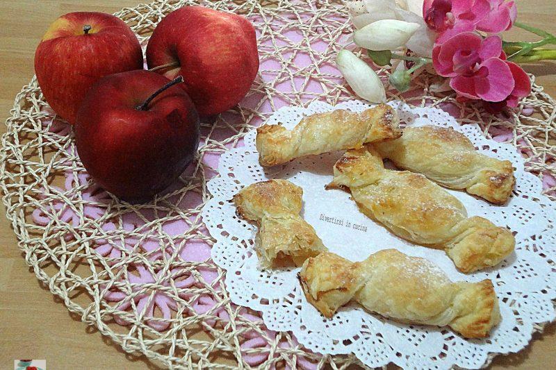 Caramelle di pasta sfoglia e mele