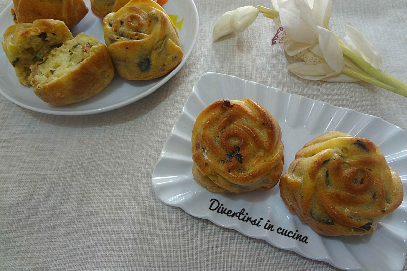 Muffin zucchine e speck