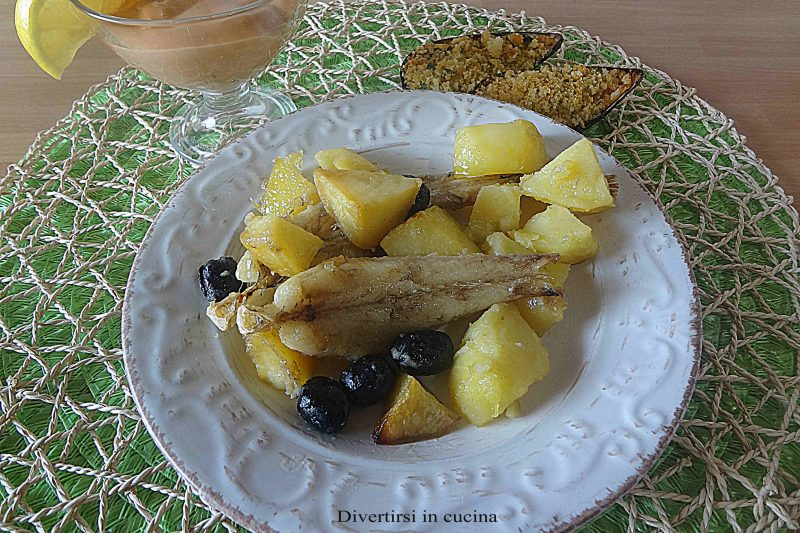 Coda di rospo con patate al forno