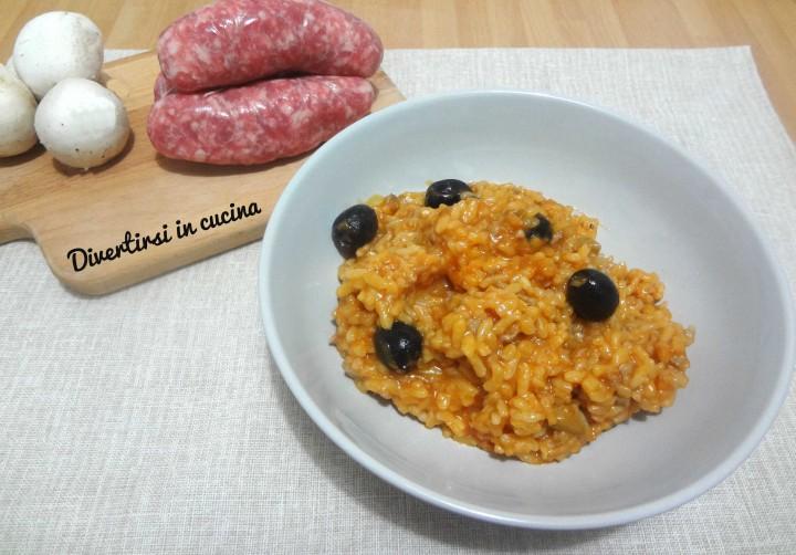 Ricetta risotto funghi salsiccia e olive Bimby