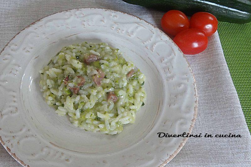 Risotto zucchine e speck Bimby