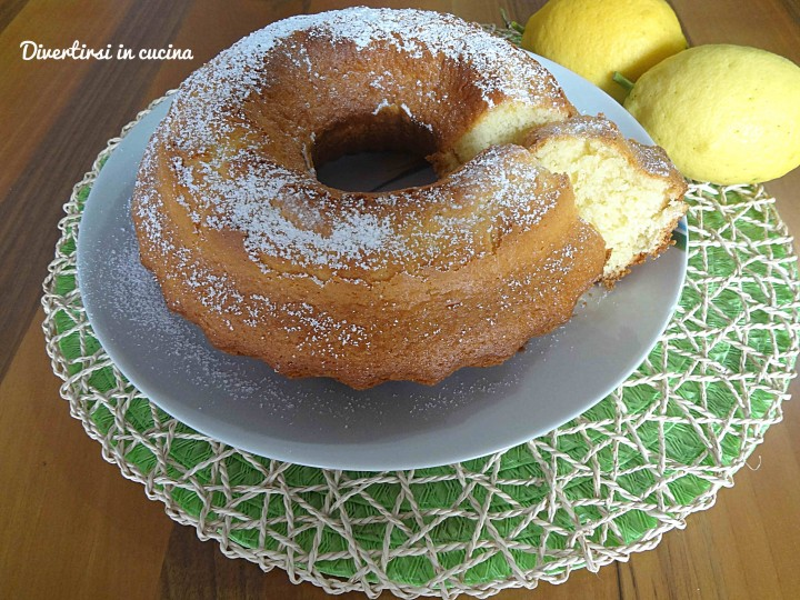 Ricetta ciambellone al limone Bimby Divertirsi in cucina