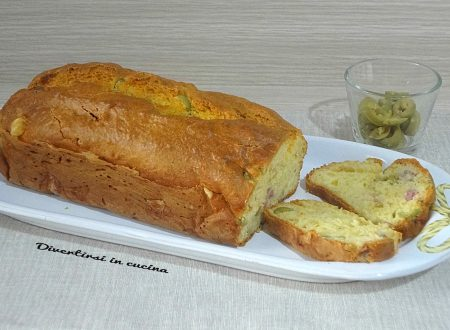 Plumcake salato alle olive semplice e veloce