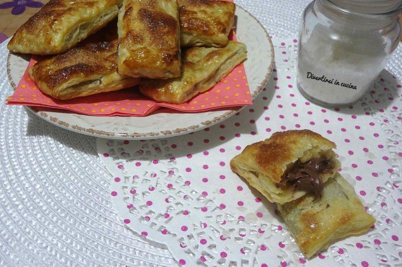 Saccottini di pasta sfoglia e Nutella