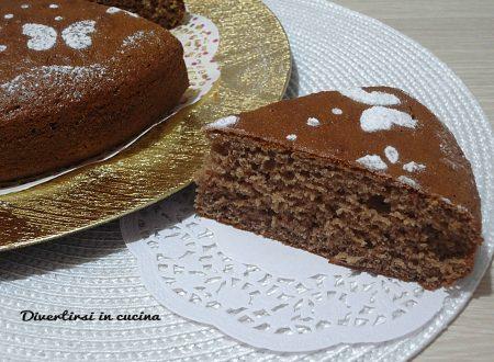 Torta con cioccolata calda sofficissima