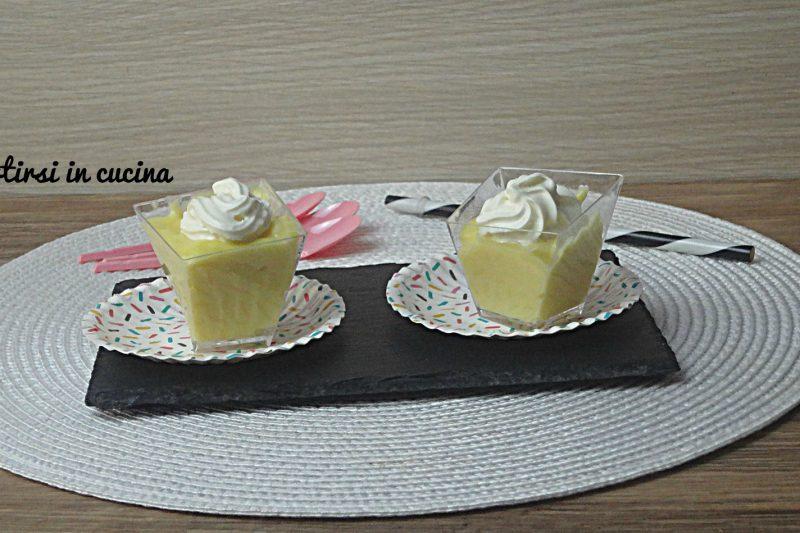 Bicchierini di crema al limoncello