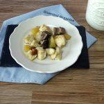 Straccetti di pollo funghi e patate
