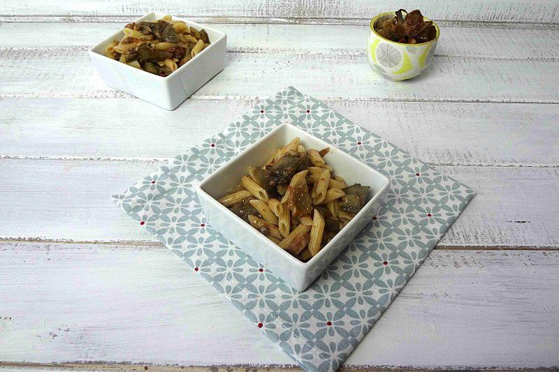 Pasta carciofi e pancetta
