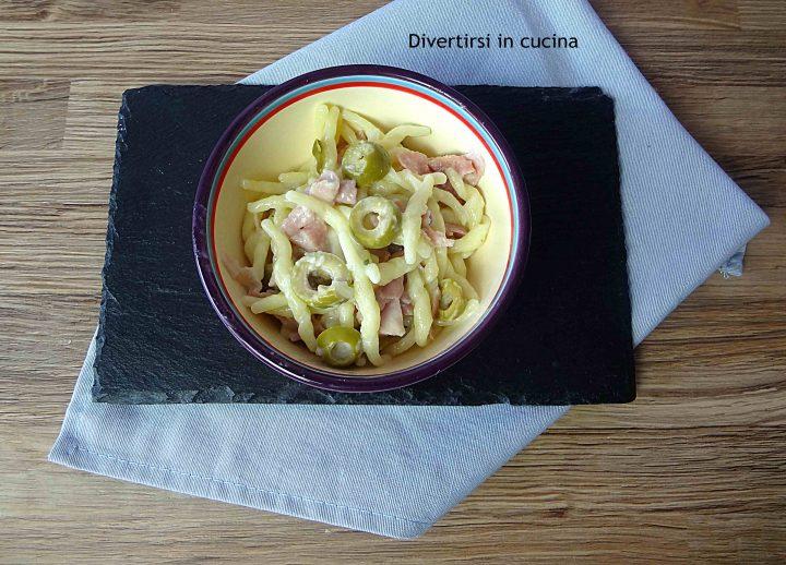 Trofie olive prosciutto cotto e panna