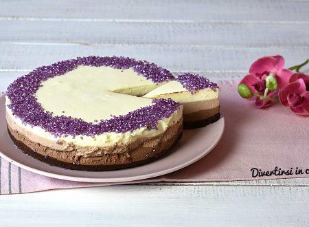 Cheesecake ai tre cioccolati