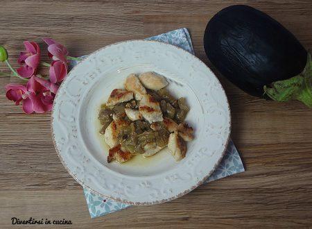 Bocconcini di pollo alle melanzane