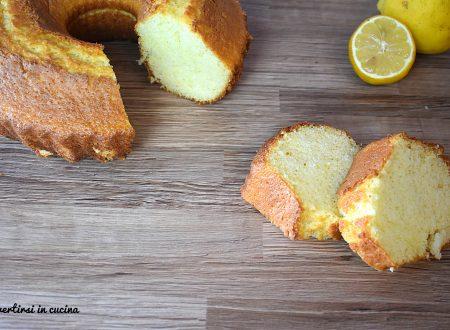 Ciambella al limoncello senza burro