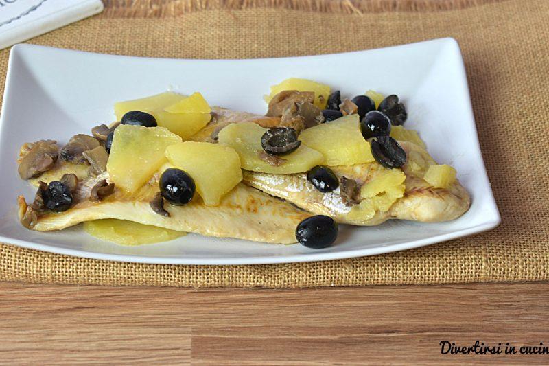 Merluzzo al forno con le olive