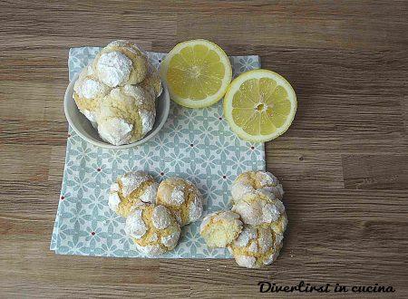 Biscotti al limone morbidi e profumati