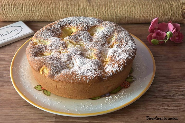 Torta di mele e crema