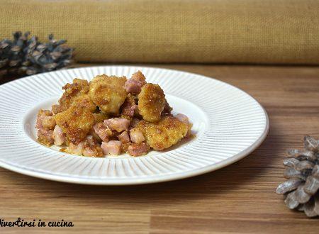 Bocconcini di pollo e pancetta croccanti