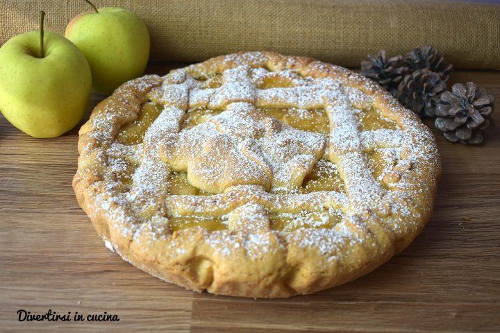 Crostata cuor di mela senza burro