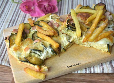 Pizza toast con zucchine e patate