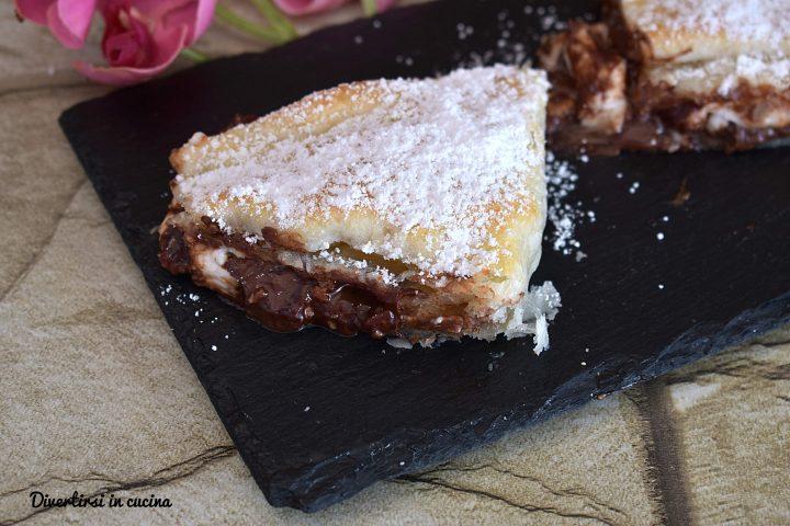 Crostata di pasta sfoglia con Nutella e mascarpone