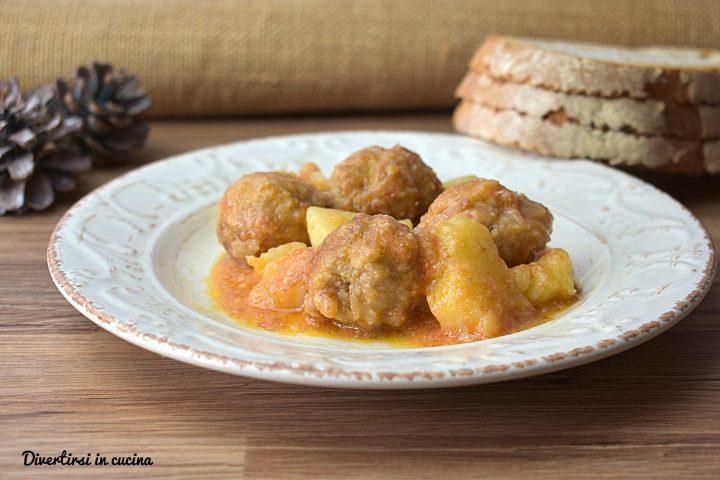 Polpette e patate in umido