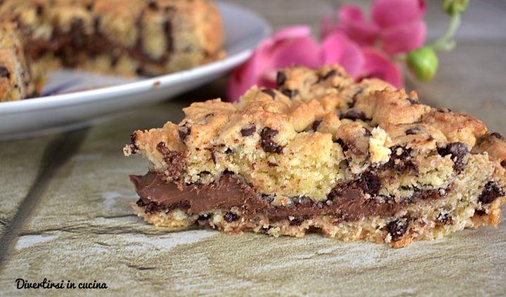 Torta cookie alla Nutella