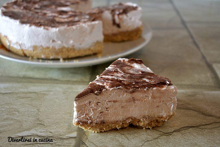 Cheesecake cremosa senza cottura