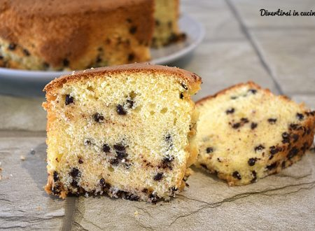Chiffon cake alla stracciatella