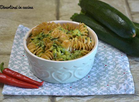 Pasta integrale al forno con zucchine