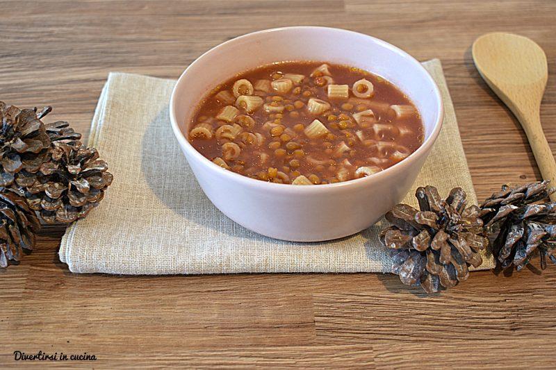 Pasta con lenticchie in scatola