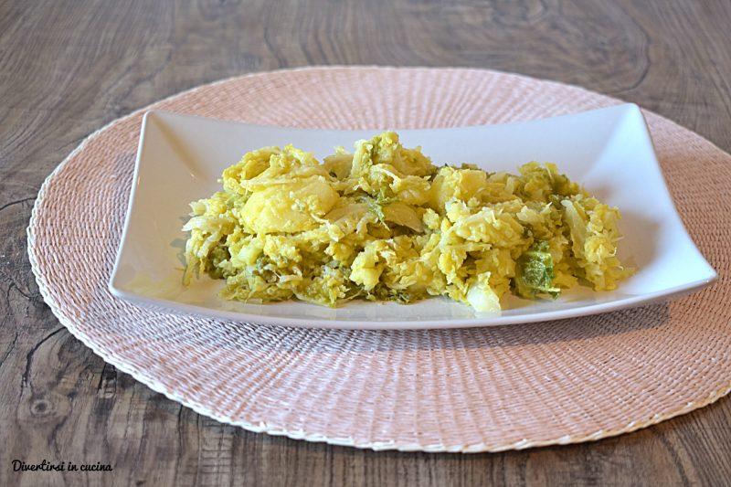 Verza ripassata con patate ricetta facile
