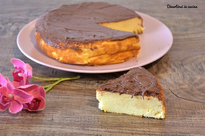 Torta cheesecake alla Nutella senza base di biscotti