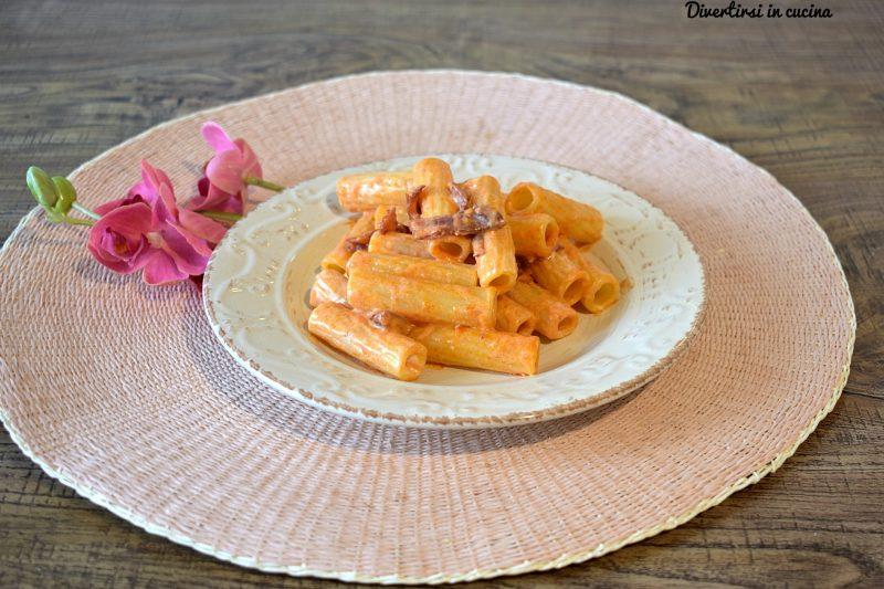 Pasta con bresaola pomodoro e philadelphia