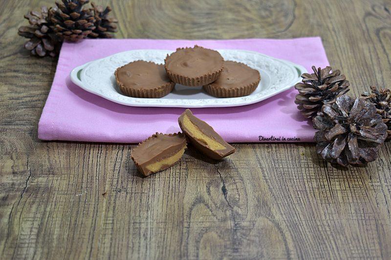 Cioccolatini con burro di arachidi