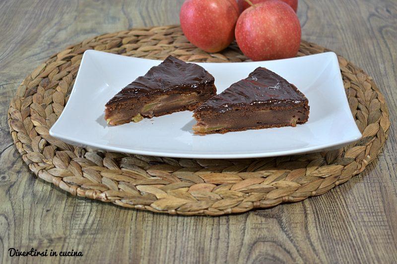 Torta di mele e ricotta al cioccolato