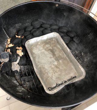 vaschetta per raccogliere succhi pulled pork