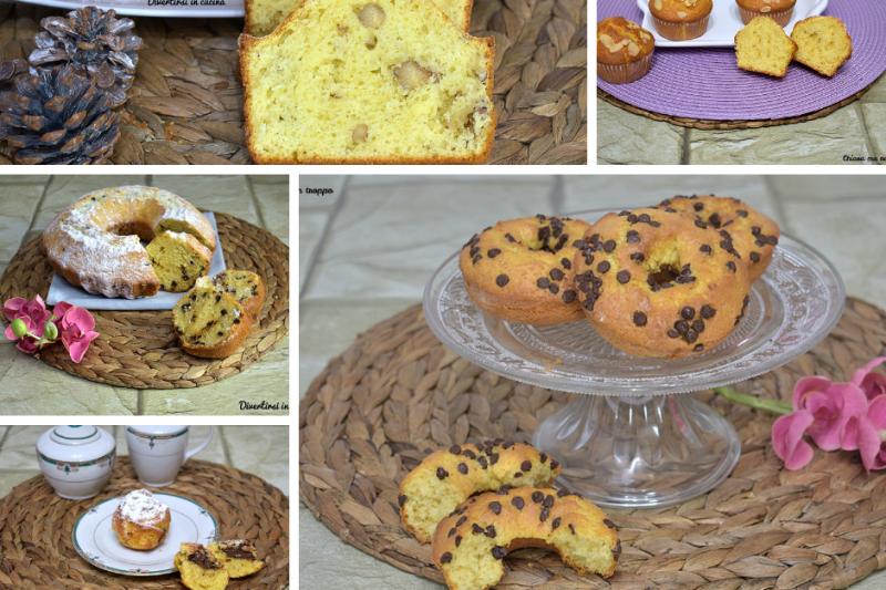 Impasto base multiuso per ciambelle muffin e plumcake