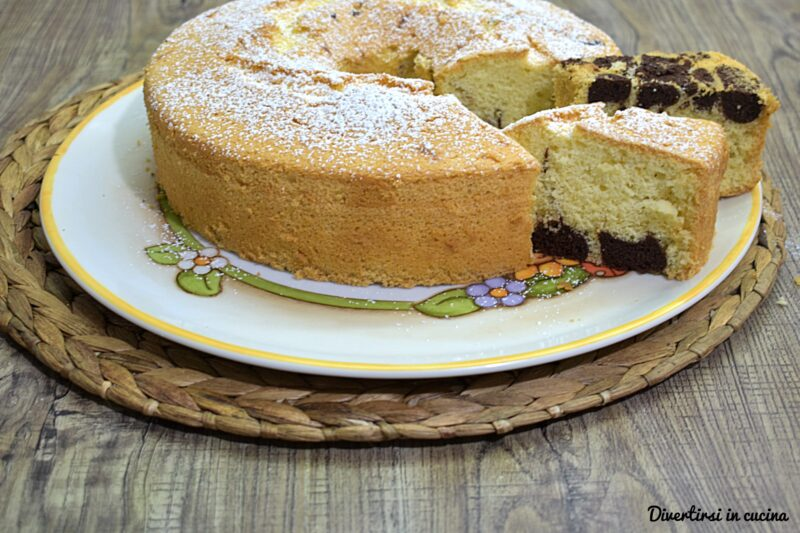 Leopard chiffon cake