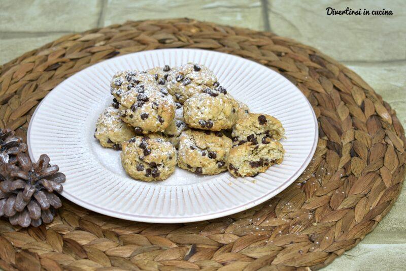 Biscotti leggeri con fiocchi d'avena