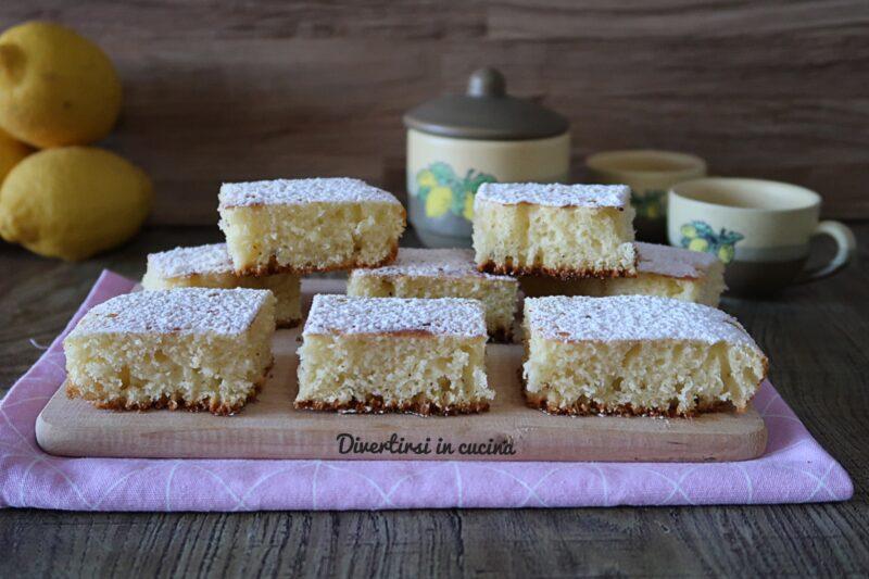 Torta paradiso al limone in padella