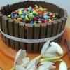 Torta Kit Kat e Smarties