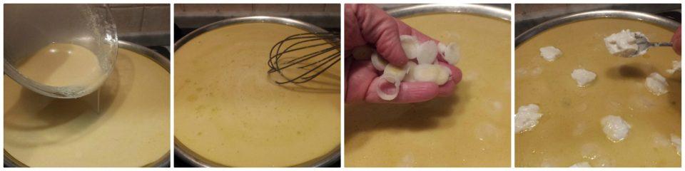 farinata con cipollotti e stracchino