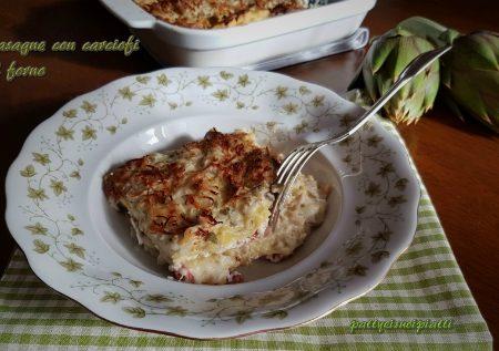 Lasagne con carciofi al forno