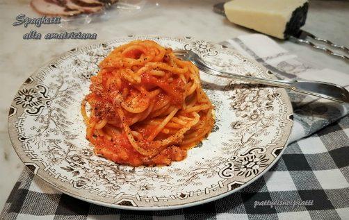 Spaghetti alla amatriciana tradizionali