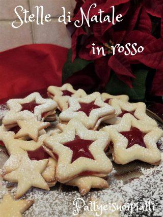 stelle di Natale in rosso